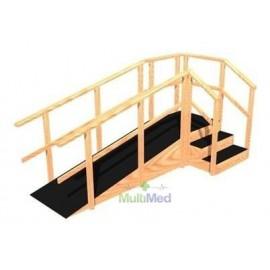 Escalera de 3 peldaños y rampa angular para niño y adulto